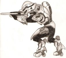 Halo 3 Covenant Elite by katunopih