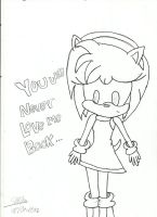 Amy rose sketch by ShadowsLilHoexx