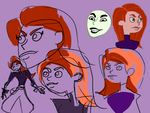 Kim Possible Juniper Lee Style sketches by mymilkiaen