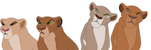 Displeased lionesses base by ChubNarwhalBases
