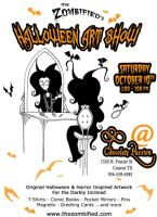 Halloween Art Show '09 Flyer by thezombified