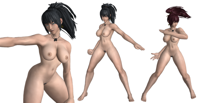 Leona (KoF XIV) Nude Meshmod For XPS by cunihinx