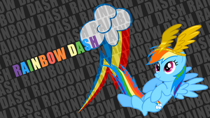 Rainbow Dash 'Text Name' Wallpaper by BlueDragonHans