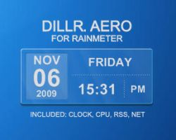 Dillr Aero for Rainmeter by XantoZ