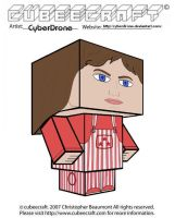 Cubeecraft- Sarah-Jane Smith 3 by CyberDrone