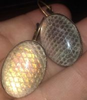 Dragonscale Earrings: $40 by talakestreal