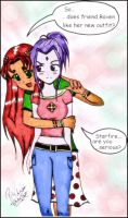 The Mall - Starfire and Raven by pizet