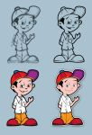vector cartoon kid by aztigart