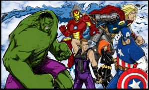 Avengers Assemble-Ish By Rantz Coloured. by Highlander0423