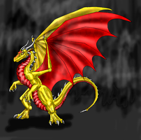 Dec. Request-Gold Dragon by Scatha-the-Worm