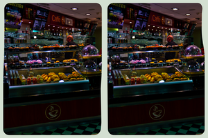 Caffe Ritazza 3D ::: HDR Cross-Eye Stereoscopy by zour