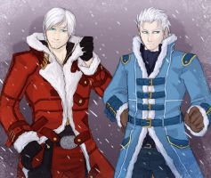 Dante and Vergil by Sparkleee-Sprinkle