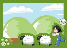 chase the sheep by kumii