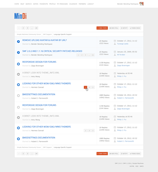 MinDi SMF Theme - Message Index by buhthc