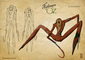 Nightmares of OZ: Scarecrow by PHATboyArt