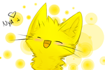 Yellow Cat by XBlackIce