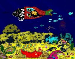 Fish Who Ate Goomba And Psychedelic Perspective by mushroomGOD121