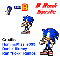 Modern Sonic B Rank Pose Sprite by HomingMissile333