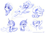 Applejack Sketches 2 by KP-ShadowSquirrel