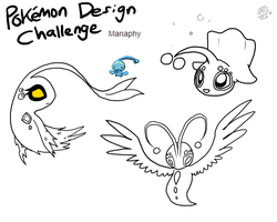 Pokemon Design Challenge - Manaphy by DragonwolfRooke