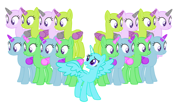 MLP Big Group Base by FlowerNeedsHerPotato