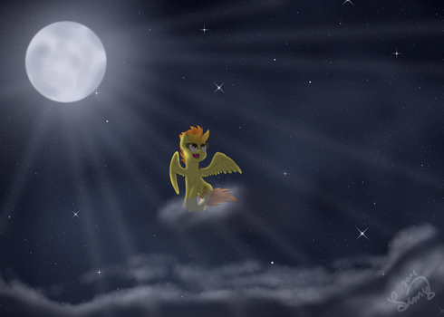 Spitfire at moonlight by LimeDreaming