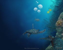 Turtles' Journey WP by Xihom