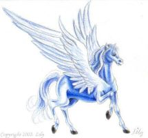 Blue Pegasus by pegacorn