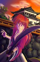 Kenshin at Sunset by random-panda