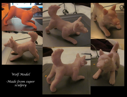 Super Sculpey Wolf by ripple09