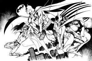 Batman Family Inks 6 by JasonConrad