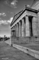 Melbourne Shrine BW by DanielleMiner