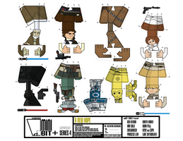 miniBIT+ Series 4 A New Hope Sheet by IdeatoPaperStudios