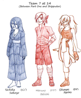 GBNaru: Team 7 at Age 14 by kiotsukatanna