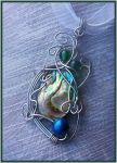 Abalone Wire Wrap Pendant Commission by balthasarcraft