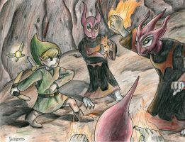 Link vs Blaaz by yurionna