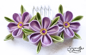 Wild Geraniums Kanzashi by SincerelyLove