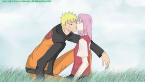 NaruSaku : a Sunny Day for Kissing by runahime