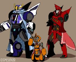 Request: Fixit, Strongarm, and Sideswipe in Capes by IDSTMessenger