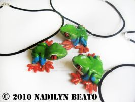 Red Eyed Tree Frogs by NadilynBeato