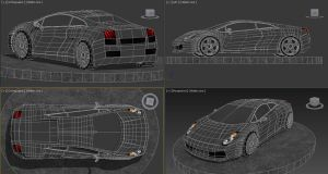 Lamborgini Wireframe 360 by Madame-Neon