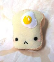 Egg on Toast Plush by PinkChocolate14