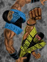 MK: Scorpion vs Sub-zero by D1NAR