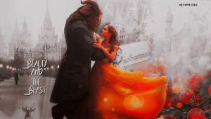 Beauty and the beast wallpaper 01 by HappinessIsMusic