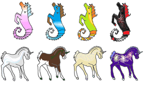 SUPER CHEAP ADOPTS! all under 6 points! by Flyingfetlocks