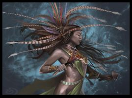 Aztec Dancer by drgn-skull05