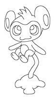 cute Aipom base by Skittychu-bases
