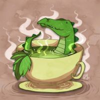 Crocodile in my tea by ZestyDoesThings
