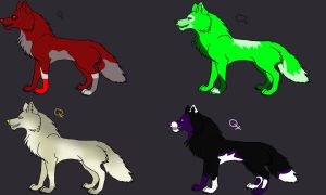Wolf breedables by Quitedeath