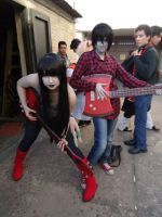 Marshall and Marceline cosplay. by Sarasacop
